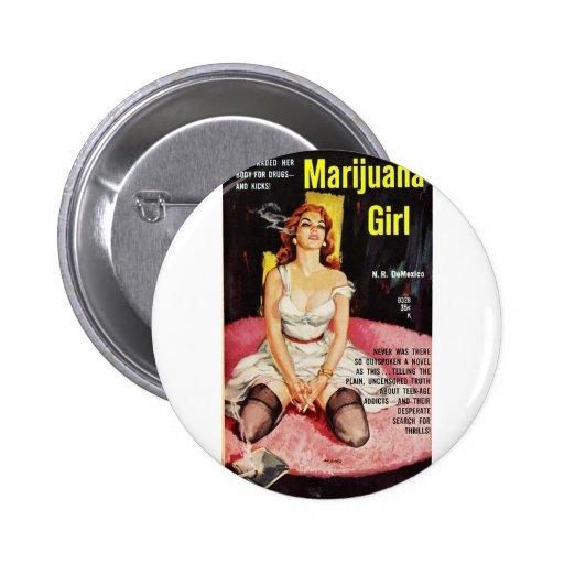 Smoking Pin-Up Pinback Button