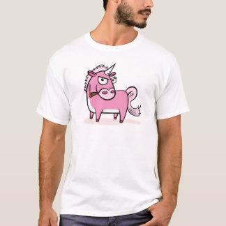 Smoking Pink Unicorn T-Shirt