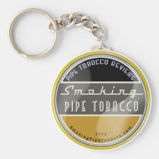 Smoking Pipe Tobacco Keychain