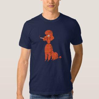 Smoking Poodle T Shirt