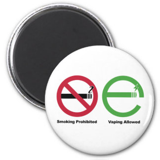 Smoking Prohibited. Vaping Allowed 2 Inch Round Magnet