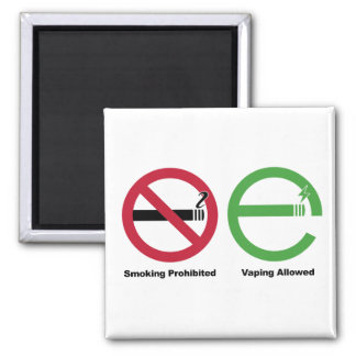 Smoking Prohibited. Vaping Allowed 2 Inch Square Magnet