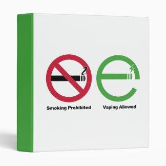 Smoking Prohibited. Vaping Allowed Vinyl Binder