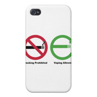 Smoking Prohibited. Vaping Allowed Case For iPhone 4