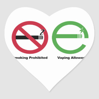 Smoking Prohibited. Vaping Allowed Heart Sticker