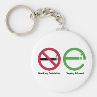 Smoking Prohibited. Vaping Allowed Basic Round Button Keychain