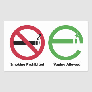 Smoking Prohibited. Vaping Allowed Rectangular Sticker