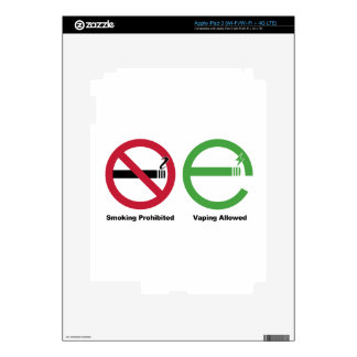 Smoking Prohibited Vaping Allowed Skins For iPad 3