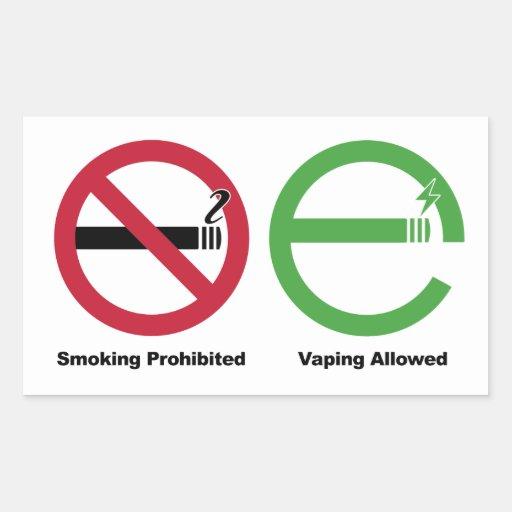Smoking Prohibited. Vaping Allowed Sticker