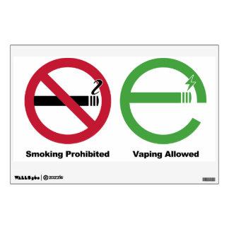 Smoking Prohibited. Vaping Allowed Wall Sticker