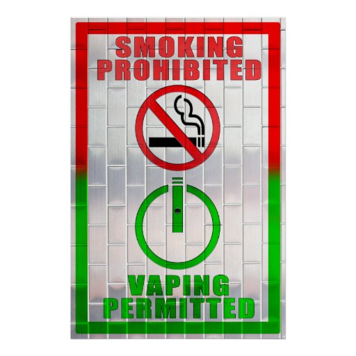 Smoking Prohibited, Vaping Permitted Poster