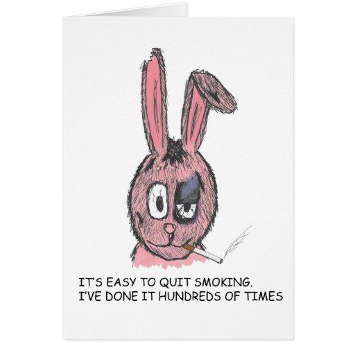 smoking rabit card