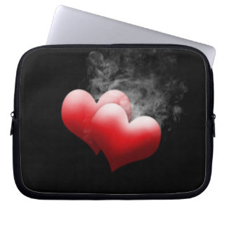 Smoking Red Hearts Electronics Bag Laptop Computer Sleeve