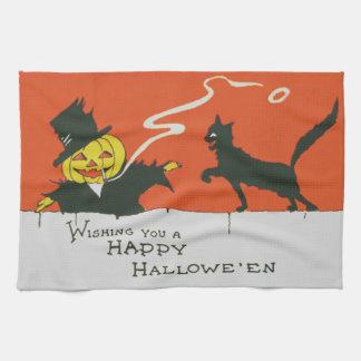 Smoking Scarecrow Jack O' Lantern Black Cat Towels
