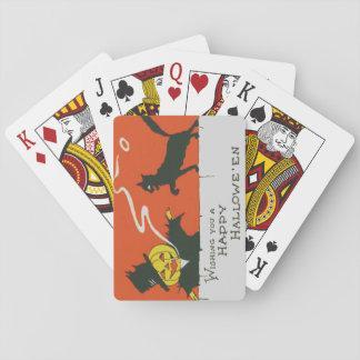 Smoking Scarecrow Jack O' Lantern Black Cat Playing Cards