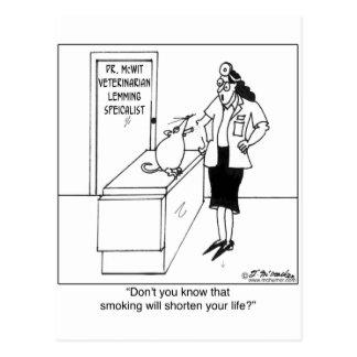 Smoking Shortens Lemming's Life Postcard