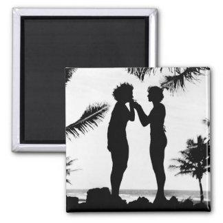 Smoking Silhouette, 1940s Magnet