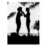 Smoking Silhouette, 1940s Post Cards