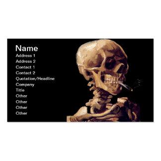 Smoking skeleton by Van Gogh Business Card