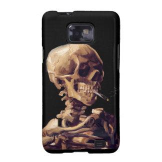 Smoking skeleton by Van Gogh Galaxy SII Cases