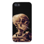 Smoking skeleton by Van Gogh Covers For iPhone 5