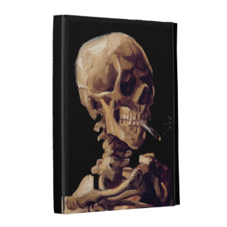Smoking skeleton by Van Gogh iPad Case