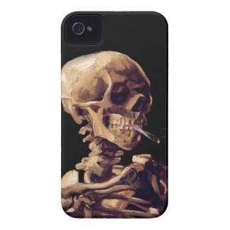 Smoking skeleton by Van Gogh iPhone 4 Case