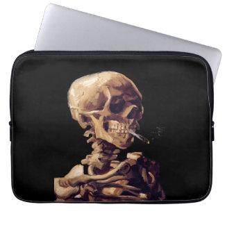 Smoking skeleton by Van Gogh Laptop Computer Sleeves