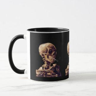 Smoking skeleton by Van Gogh Mug