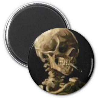 smoking skeleton magnet
