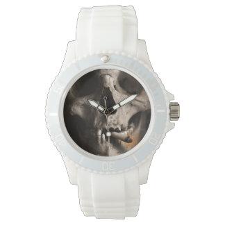 Smoking skeleton wristwatch