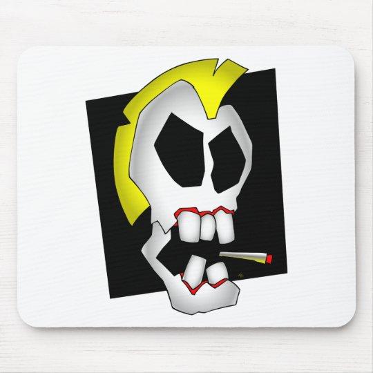 smoking skull-1 mouse pad
