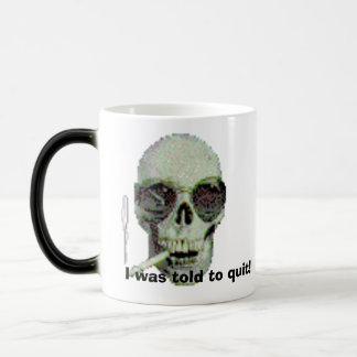 Smoking Skull, I was told to quit! Magic Mug