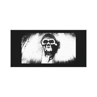 """Smoking Skull"" Photo Art Canvas Print"