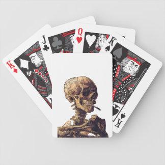 Smoking Skull Playing Cards