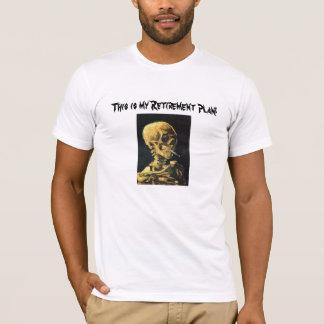 Smoking Skull Retirement Plan T-Shirt