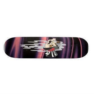 Smoking Skull Skateboard Deck