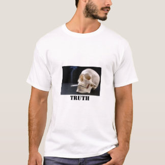 smoking skull, Truth T-Shirt