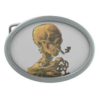 Smoking Skull with Cigarette Belt Buckle