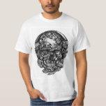 Smoking skull with headphones tee shirt.