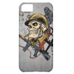 Smoking Skull with Helmet, Airplanes and Bombs Case For iPhone 5C
