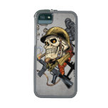 Smoking Skull with Helmet, Airplanes and Bombs iPhone 5 Cover