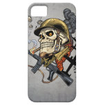 Smoking Skull with Helmet, Airplanes and Bombs iPhone 5 Covers