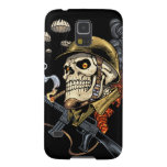 Smoking Skull with Helmet, Airplanes and Bombs Case For Galaxy S5