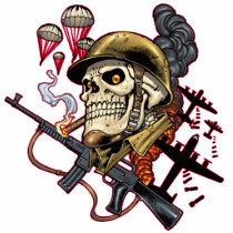 skull,, skulls,, airborne,, marine,, marines,, corps,, parachute,, skeleton,, skeletons,, al rio, Photo Sculpture with custom graphic design