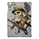Smoking Skull with Helmet, Airplanes and Bombs iPad Mini Covers