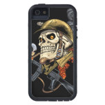 Smoking Skull with Helmet, Airplanes and Bombs iPhone SE/5/5s Case
