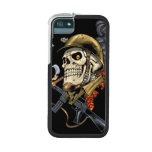 Smoking Skull with Helmet, Airplanes and Bombs iPhone SE/5/5s Cover