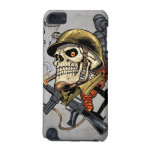 Smoking Skull with Helmet, Airplanes and Bombs iPod Touch (5th Generation) Cover
