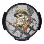 Smoking Skull with Helmet, Airplanes and Bombs LED Window Decal